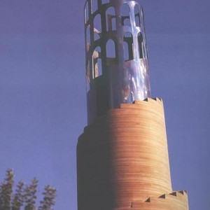 Israel Hadany, Tower 1998, Plywood and iron 100X45X45
