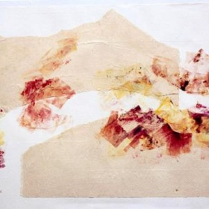 Beyond, 1999 Chine-cole with monoprint 50x70cm