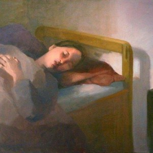 Sleeping Late, 1995 Oil on Canvas 70X80 cm.
