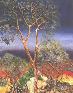 Tsagai Barihun, The tree of Knowledge, OIl on canvas 50X80 cm.