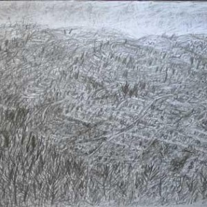 Judean hills landscape, 2005 pencil drawing