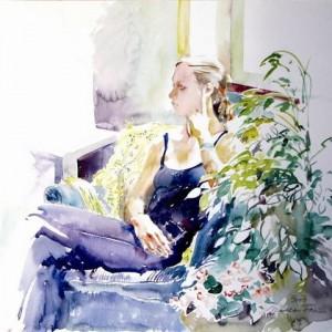 איריס, watercolor 60 X 55 סמ
