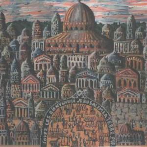 ברוכים הבאים לירושלים - כהן גבריאל, 2001 , צבע פוליאוריתני על בד, 50 X 60 סמ.