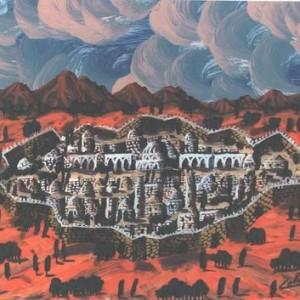 ללא כותרת - כהן גבריאל, 2001 , צבע פוליאוריתני על בד, 47.5 X 33.5 סמ.