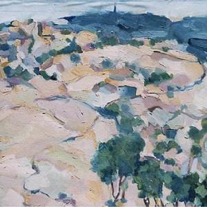 Judaean Hills, 1985 Oil on canvas 76 x 91 cm