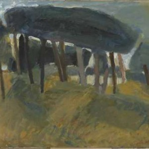 Pine Trees - Hass Yehoshua, 2000, Oil on Canvas, 73X 50 cm