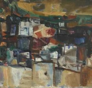Gallien Town - Hass Yehoshua, 1963,  Oil on Canvas, 80X50 cm