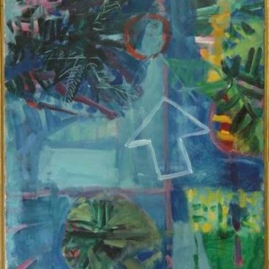 To The Sea Shore - Hass Yehoshua, 1973,  Oil on Canvas, 53X73 cm