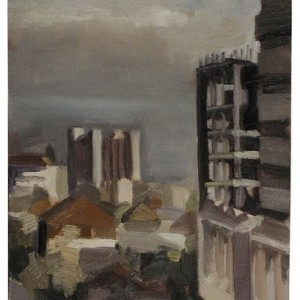 Construction Site, 2000, oil on cnavas on board 30 X 25 cm