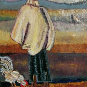בדואים - גרינפילד יצחק, 1956, שמן על בד, 64x50