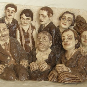 Family Photograph - Epstein Chava, 2006, ceramic sculpture, 35x56x22 cm