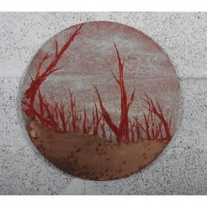 פנינה בחורשה - סבח אבי, 2008, שמן ואקריליק על נחושת, 50 cm