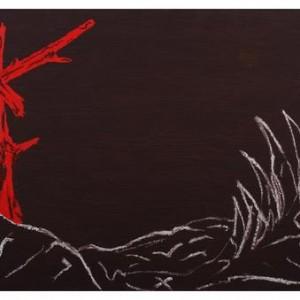 ללא כותרת - סבח אבי, 2008, שמן על נייר, 110x75 סמ