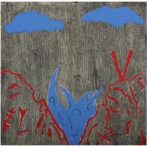 ים האהבה - סבח אבי, 2007, שמן ועפרון על נייר, 70x70 סמ