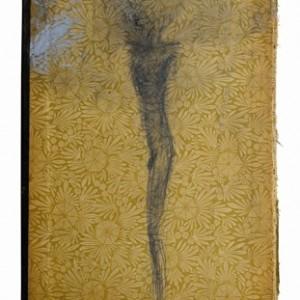Meni Salama,  pencil on book cover, 16X23.7 cm