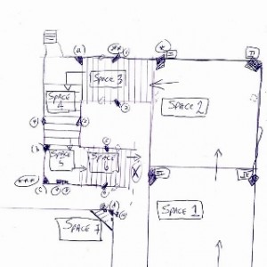 """סקיצת אמן ל""""29 שלבים"""" - הורנשטיין סטיבן, 2008, מיצב קולי"""
