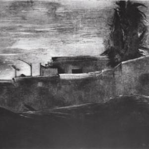 אבו טור, ירושלים - לוי רענן, 1987, תצריב, אקווטינטה, שעווה רכה, שעווה קשה, אקווטינטת סוכר וגלגלת על נייר, 76x105