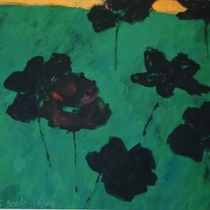 ללא כותרת - ברלינסקי טובה, 2009, גואש על נייר, 49.5x 37 סמ