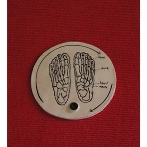 """מרגו גראן כפתור קרמיקה 2009, קרמיקה 17 ס""""מ קוטר"""