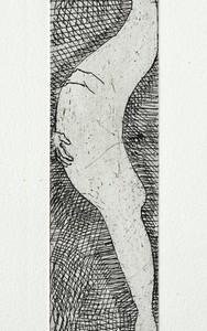 Maternity, 2011, Etching 27X6 cm