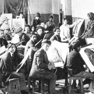 drawing class at Bezalel - new jerusalem, 1914
