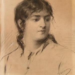 The orphan Devosha - new jerusalem, 1902, Drawing by Ira Yann