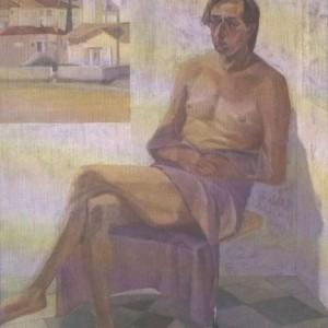 Hava Raucher, Dialogue, 1989, Oil on canvas 130X150 cm.