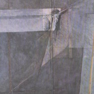 Dalit Sharon, Man-Woman-Vulture, 1990, Oil on canvas 183X250 cm.