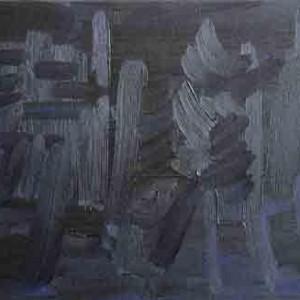 מתוך הסדרה גבולות רקמה 2004-2005, שמן על בד