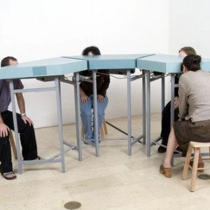 Learning Unit - Adar Behar Orit, 2006, Wooden tables and video
