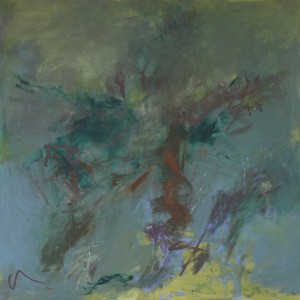 Garden and the woman, 120x100 cm, pigment and oil on canvas, 2013