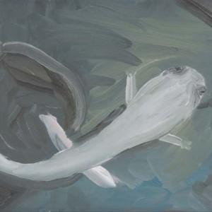 Eyal Gottschalk Levi,Captured,2011,Oil on canvas, 30X90 cm