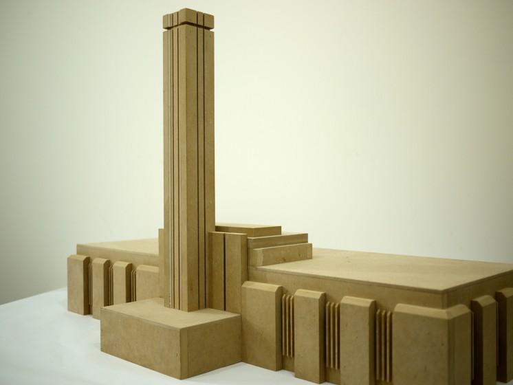 ארי פישר, Bankside Power Station, 2012, M.D.F. , 100א 50ר 60ג סמ, Ari Fischer, Bankside Power Station, 2012, M.D