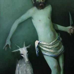 Pavel Feinstein, Untitled, Oil on canvas, 1994, 150x80 cm,