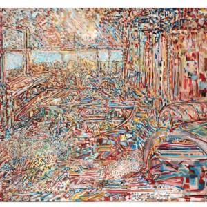 זהר כהן, סהר, 2010, שמן על בד, 74X100,Zohar Cohen, Saar, 2010, Oil on canvas, 74X100