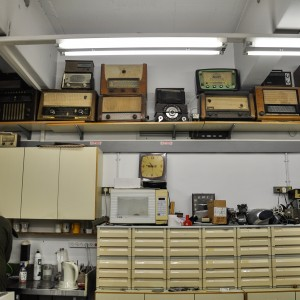 Radio Receivers in a Laboratory, December 2012, 40X25 cm