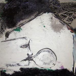 """גנדי צכמיסטר, לא כותרת, 2012, שמן על בד, 20X26 ס""""מ"""