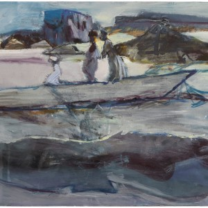 Anne Sassoon, Boat, 2013, Oil on canvas