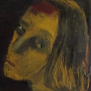 נעמי גפני, דיוקן עם כתם על מצח, 2013, שמן על בד
