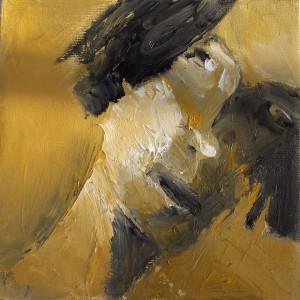 נעמי גפני, דיוקן צהוב, 2013 , שמן על בד