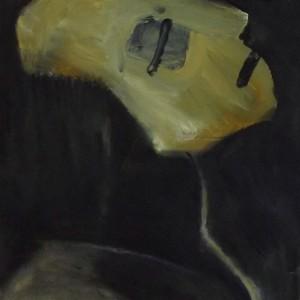 נעמי גפני, מסכת מוות, 2013, שמן על נייר