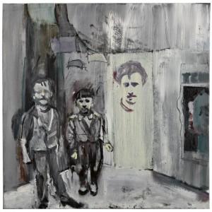 Anne Sassoon, Boys with Head, 2013, Oil on canvas