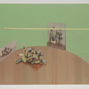 Alon Kedem, Mirror room, 2011, Oil on canvas