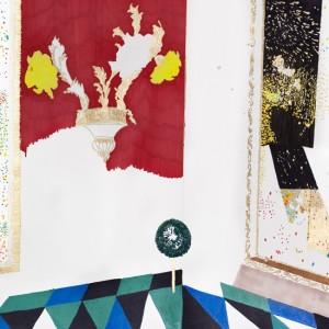 אלהם רוקני, חדר מראות, 2011, טושים על נייר