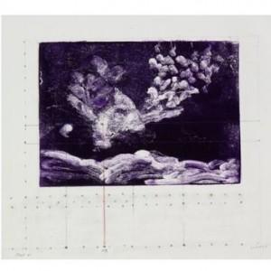 """מפה שמימית 1#, 2007, דיו על נייר, 35X30 ס""""מ"""