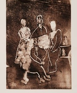 Family Gathering, 2007, ink on paper,35x23 cm