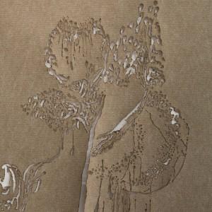 Sagit Mezamer, Chasing the Dragon, Living Apart #2, mixed media on felt carpet, 200X90 cm