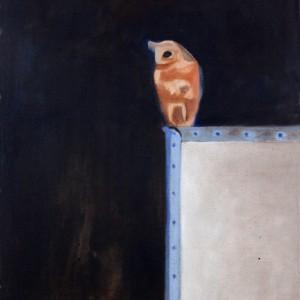 """שמעון פינטו, עובד בלילה, 2009, שמן על בד, 90*60 ס""""מ"""