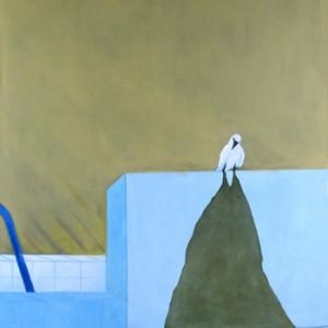 """שמעון פינטו, עורב לבן, 2010, שמן על בד, 150* 130 ס""""מ"""