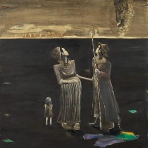 """רונן סימן-טוב, המודדים, 2012, שמן על בד, 170*150 ס""""מ"""